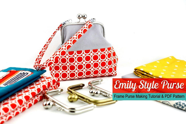 metal purse frame clutch making tutorial