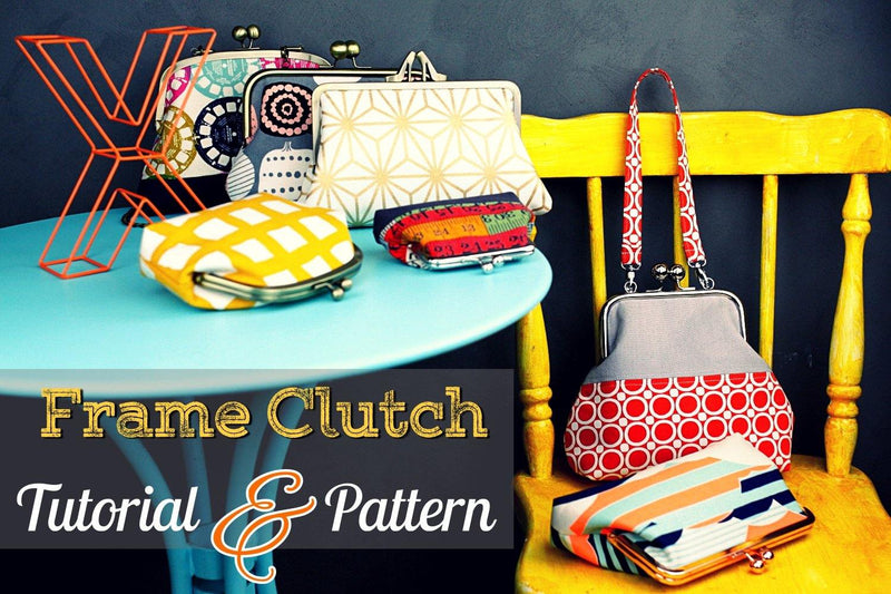Fiona Fold Over Frame Clutch Bag Making Tutorial & PDF Pattern | SUPPLY4BAG