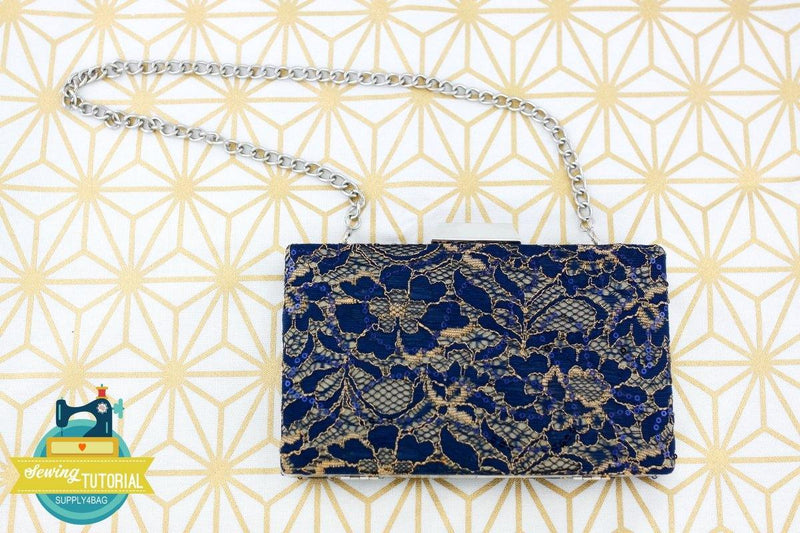 Luxury Lace Clamshell Minaudière Clutch Making Tutorial | SUPPLY4BAG