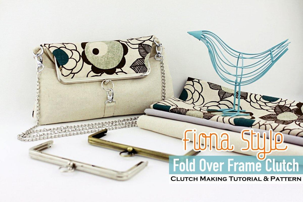 Fiona Style Fold Over Frame Clutch Bag Making Tutorial & PDF Pattern | SUPPLY4BAG