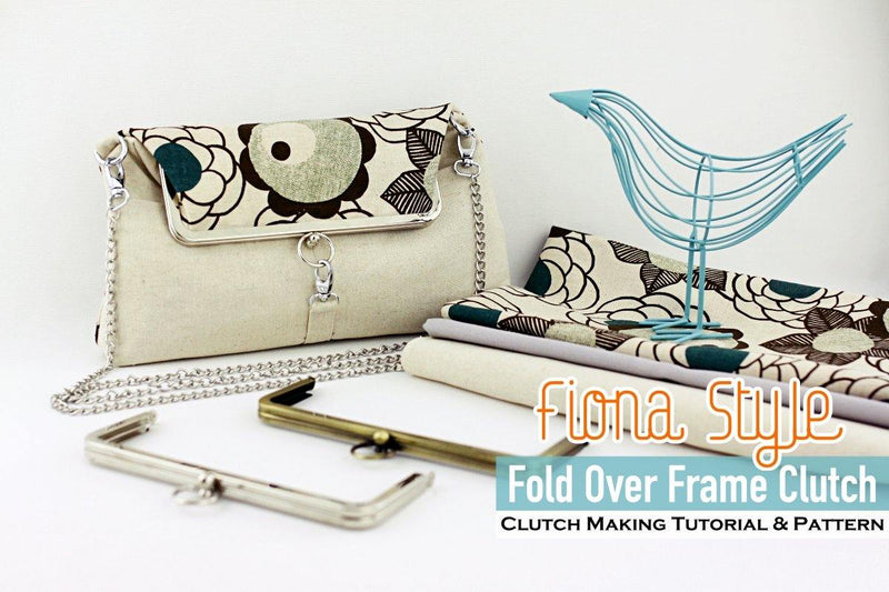 Fold Over Clutch Sewing Pattern and Tutorial | SUPPLY4BAG