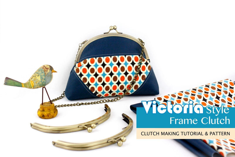 Victoria Style Frame Clutch Making Tutorial PDF Pattern | SUPPLY4BAG