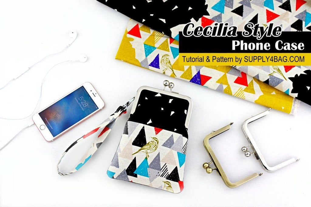 Cecilia Style iPhone Case Making Tutorial & PDF Pattern | SUPPLY4BAG