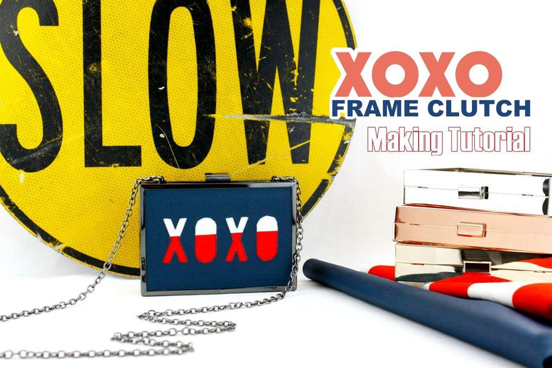 XOXO Hollow Frame Clutch Making Tutorial | SUPPLY4BAG