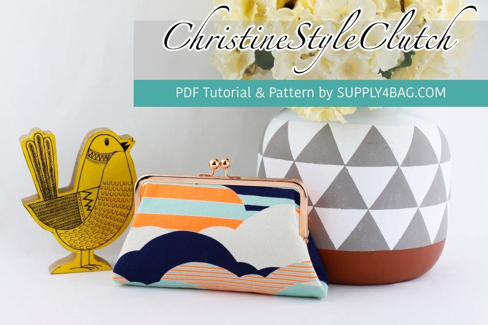 Christine Style Frame Clutch Making Tutorial & PDF Pattern | SUPPLY4BAG
