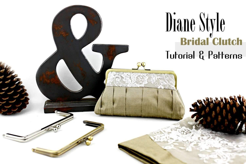 Diane Style Frame Clutch Sewing Patterns & Tutorial | SUPPLY4BAG