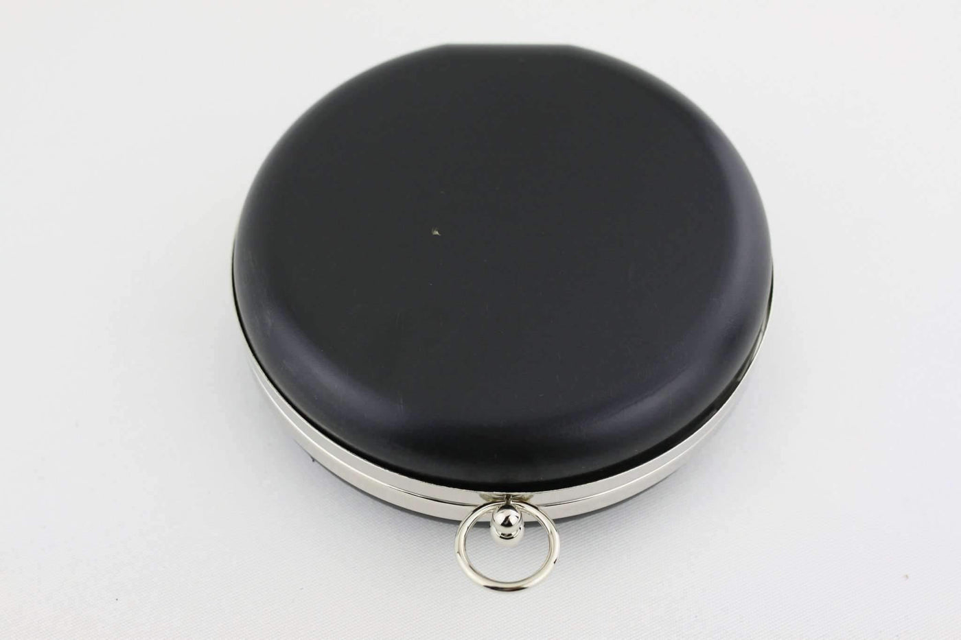 ee3c4e666d 6 inch - O Ring Clasp - Silver Circle Box Clutch Frame with Chain Loops ...