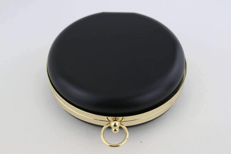 6 inch - O Ring Clasp - Gold Circle Box Clutch Frame with Chain Loops | SUPPLY4BAG