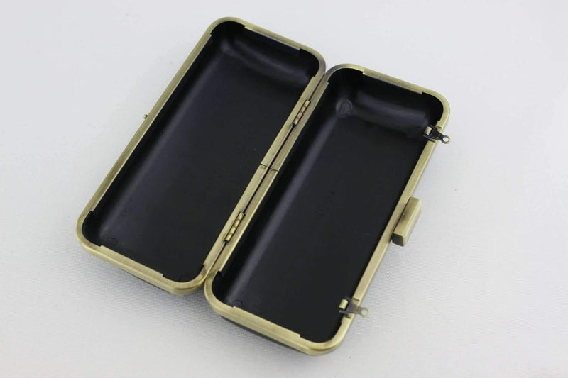 7 x 3 inch - Square Closure - Antique Brass Box Clutch Frame with Covers | SUPPLY4BAG
