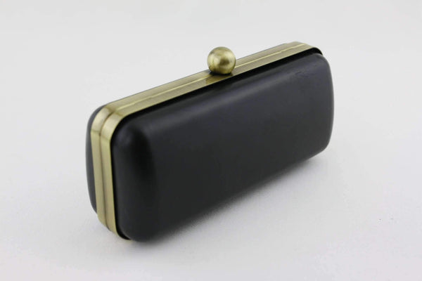 7 x 3 inch - Single Ball - Antique Brass Box Clutch Frame with Covers | SUPPLY4BAG