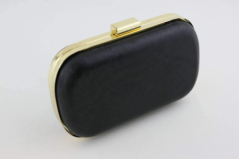 6.5 x 3 3/4 inch - Golden Rounded Edge Shape Minaudière Clutch Frame | SUPPLY4BAG