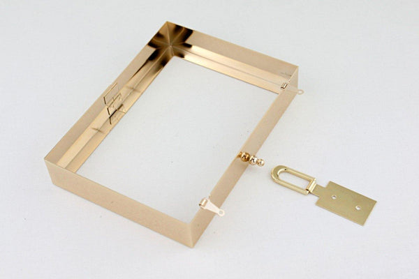 7 x 5 inch - Gold Metal Clutch Frame with Lock for Book Clutch DIY | SUPPLY4BAG