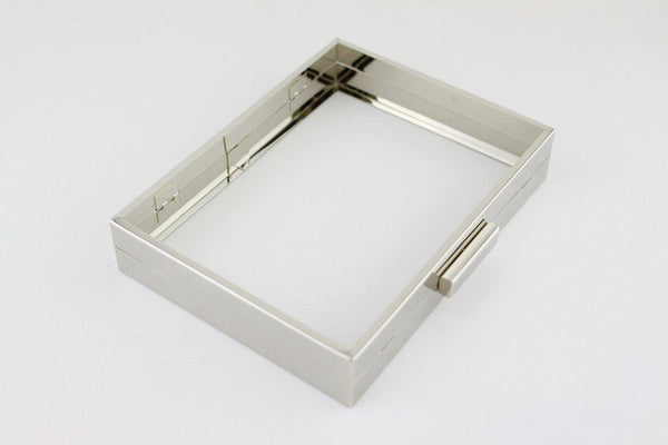 8 x 6 inch - Silver Hollow Clutch Frame with Chain Loops | SUPPLY4BAG