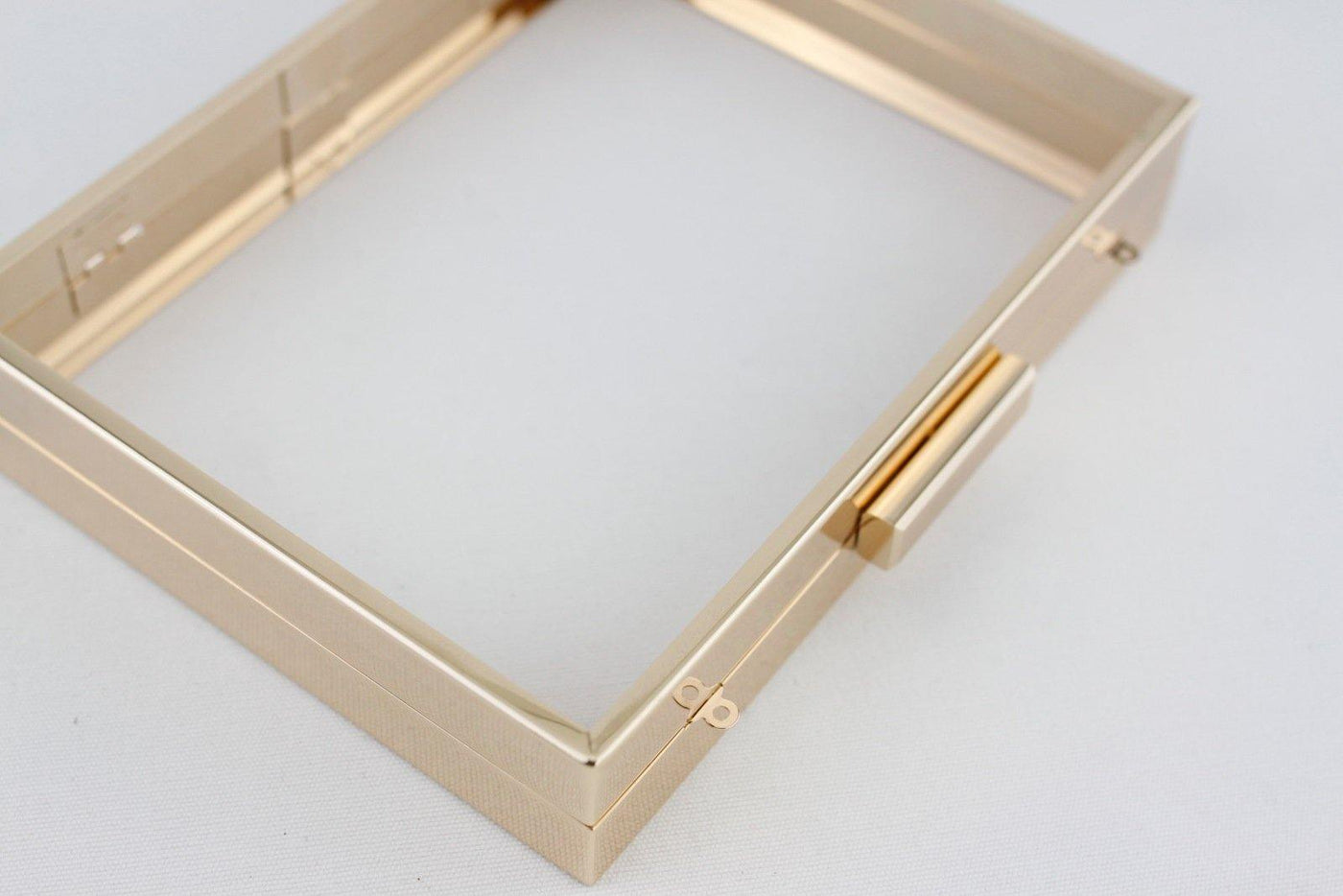 ... 8 X 6 Inch   Gold Hollow Clutch Frame With Chain Loops | SUPPLY4BAG ...