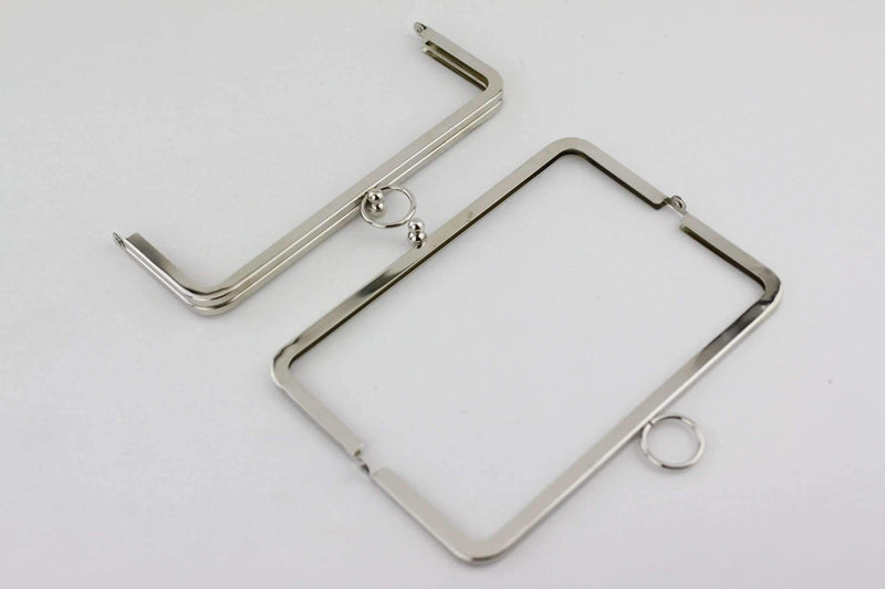 8 x 3 inch - O Ring - Silver Large Metal Clutch Frame | SUPPLY4BAG