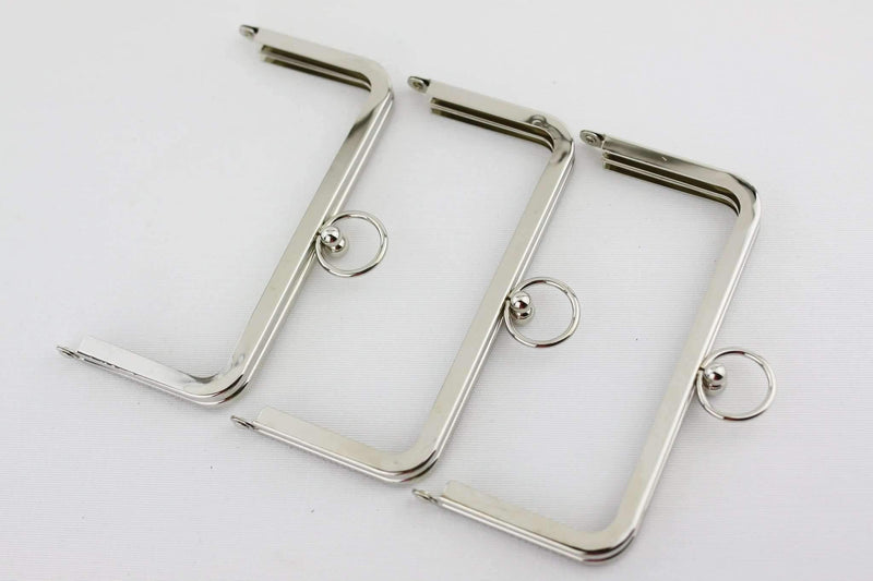 6 x 3 inch - O Ring - Silver Metal Purse Frame | SUPPLY4BAG