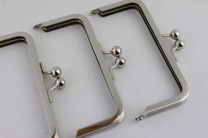 4.5 x 2 inch - Ball Closure - Silver Coin Purse Frame | SUPPLY4BAG