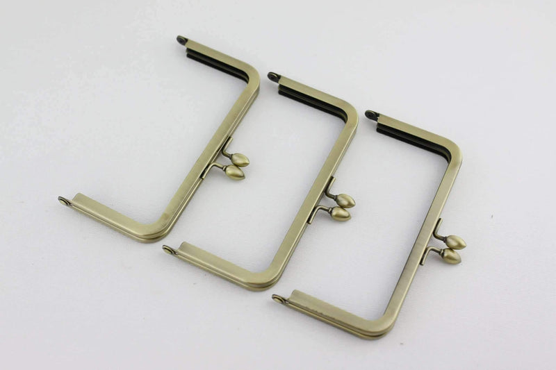 6 x 3 inch - Teardrop Closure - Antique Brass Metal Purse Frame | SUPPLY4BAG