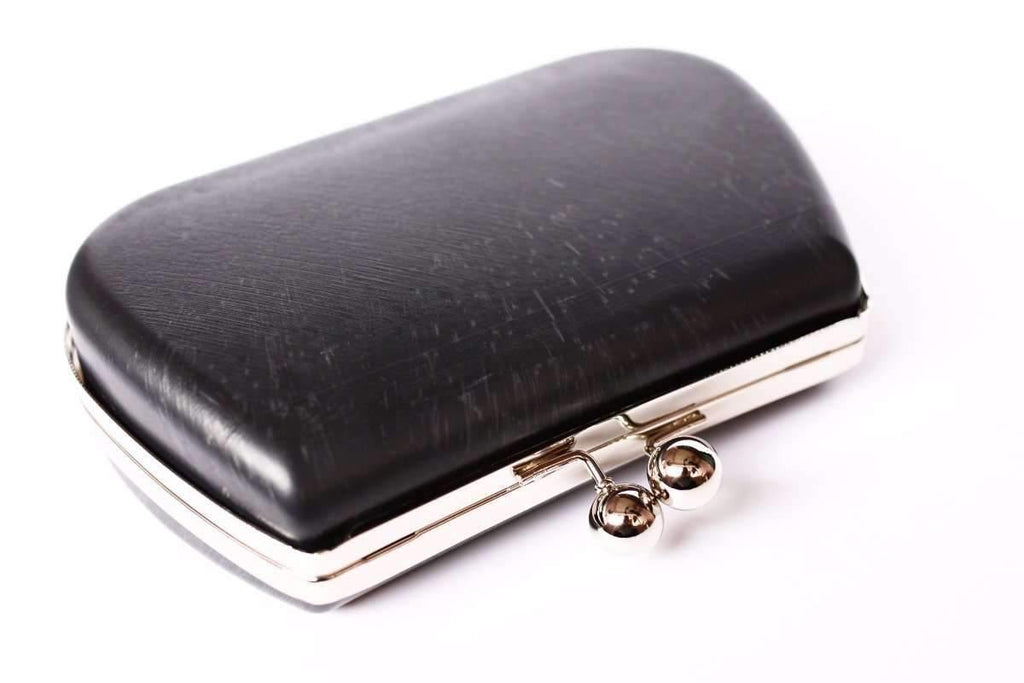 7 x 4.5 inch - Ball Closure - Silver Minaudière Clamshell Clutch Frame | SUPPLY4BAG