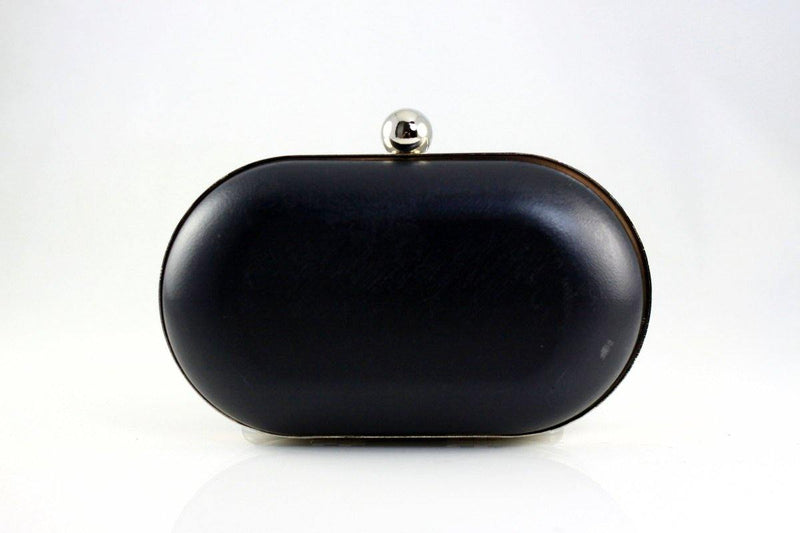 6 1/4 x 3.5 inch - Single Ball - Silver Rounded Edge Shape Clamshell Clutch Frame | SUPPLY4BAG