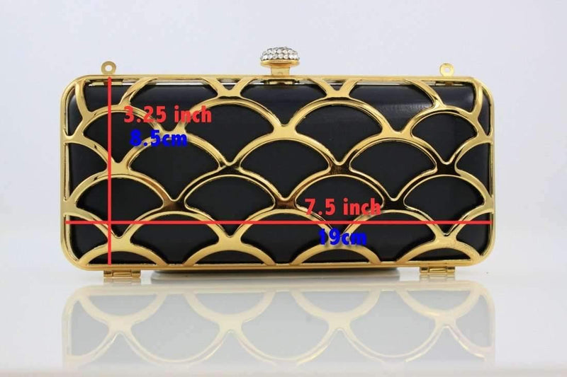 7.5 x 3 1/4 inch - Golden Ware Zinc Alloy Box Clutch Frame | SUPPLY4BAG