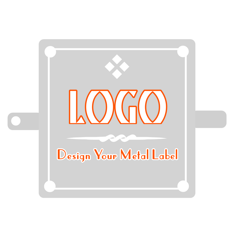 Custom Design Logo Metal Label for Your Fashion Brand - 500 Pieces (MOQ) | SUPPLY4BAG