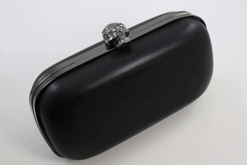 7 1/4 x 3 3/4 inch - Skull - Gunmetal Clutch Box Frame with Covers | SUPPLY4BAG