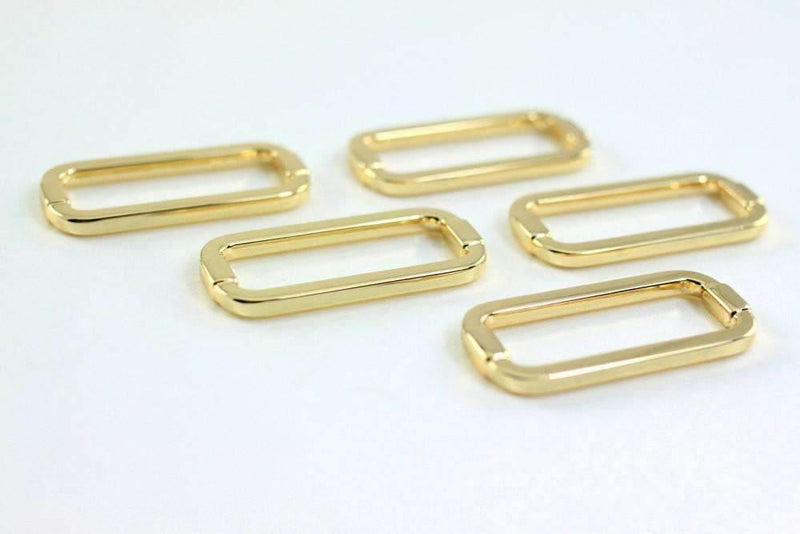 1.5 inch (inner) - Golden Rectangle Ring - 10 Pieces | SUPPLY4BAG