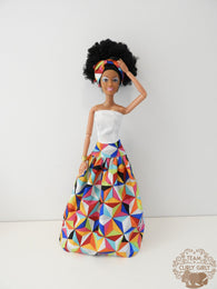 Curly Girly Doll Nayla Maxi Skirt Diamonds