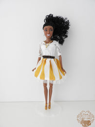Curly Girly Doll Kayla Yellow Dress