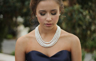 Wearing Pearls As a Bridesmaid