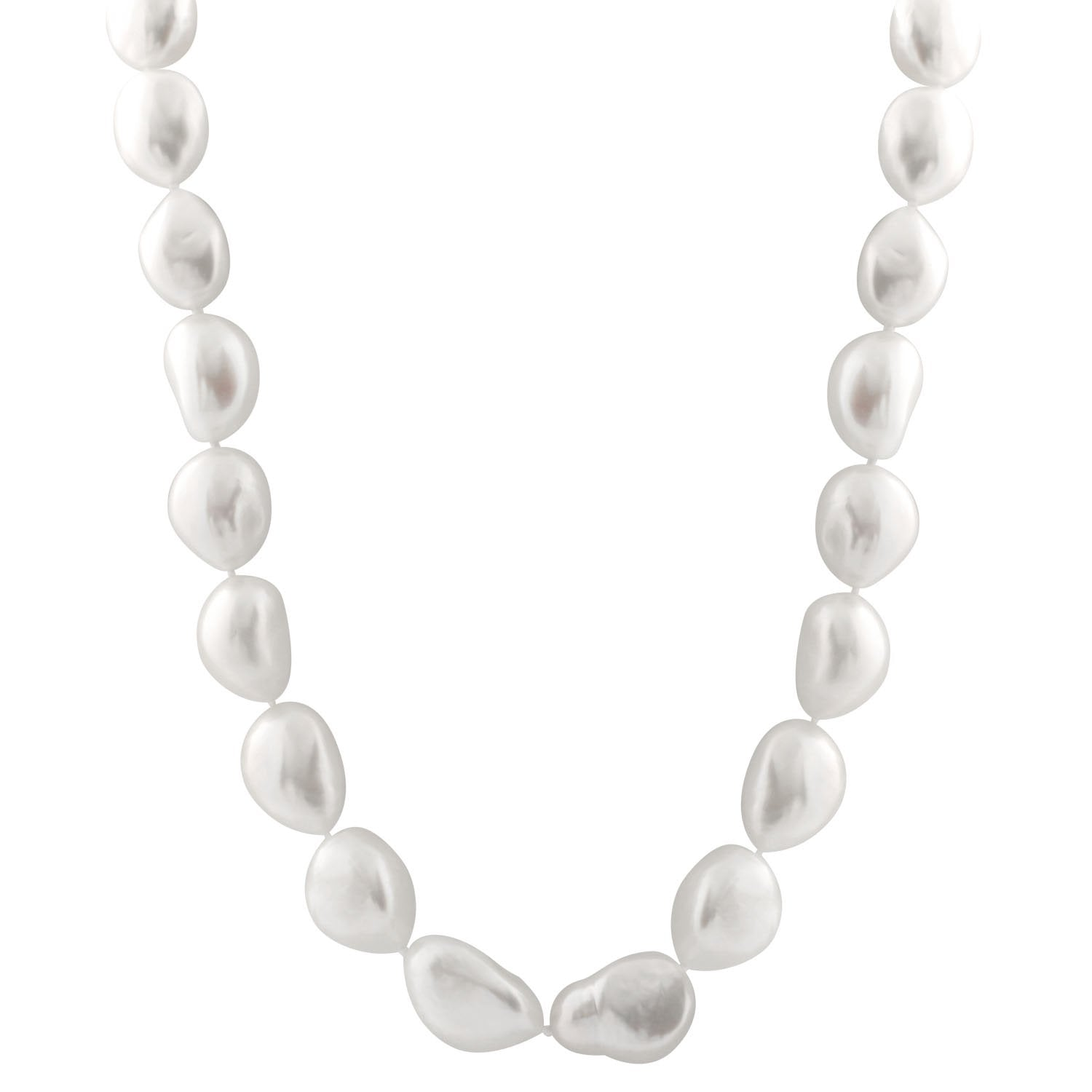 Magnificent Baroque White Freshwater Pearl Necklace