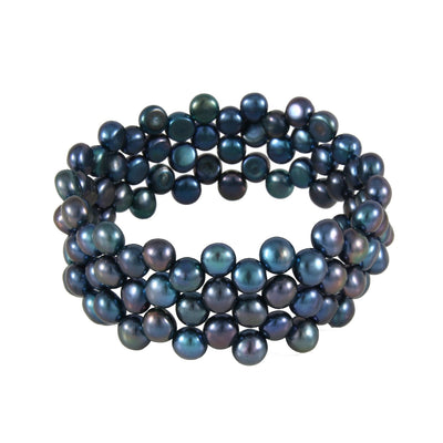 Beautiful Triple Row Freshwater Pearl Bracelet