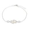 Graduated Beautiful CZ Pearl Adjustable Bracelet