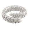 Hand Braided Sterling Silver Pearl Bangle