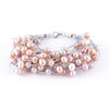 Braided Multi Strand Fancy Pearl Bracelet