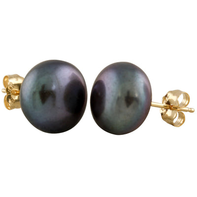 Decadent Black 10mm Pearl Studs
