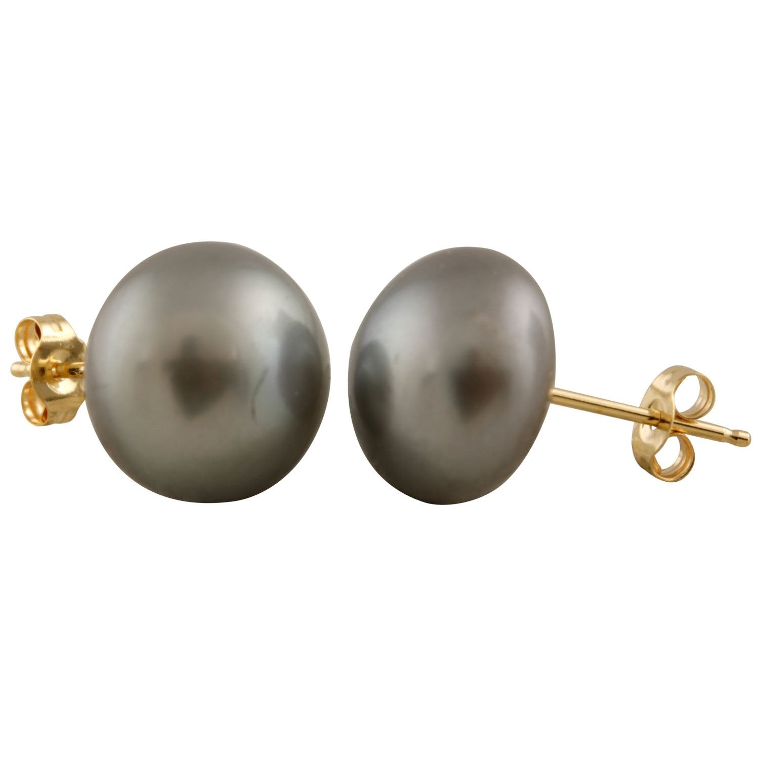 Decadent Gray 10mm Pearl Studs