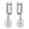 Dangling Silver Freshwater Pearl Earrings