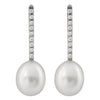 Lustuous dangling pearl Stud Earrings