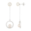 Dangling Double Pearl Earrings