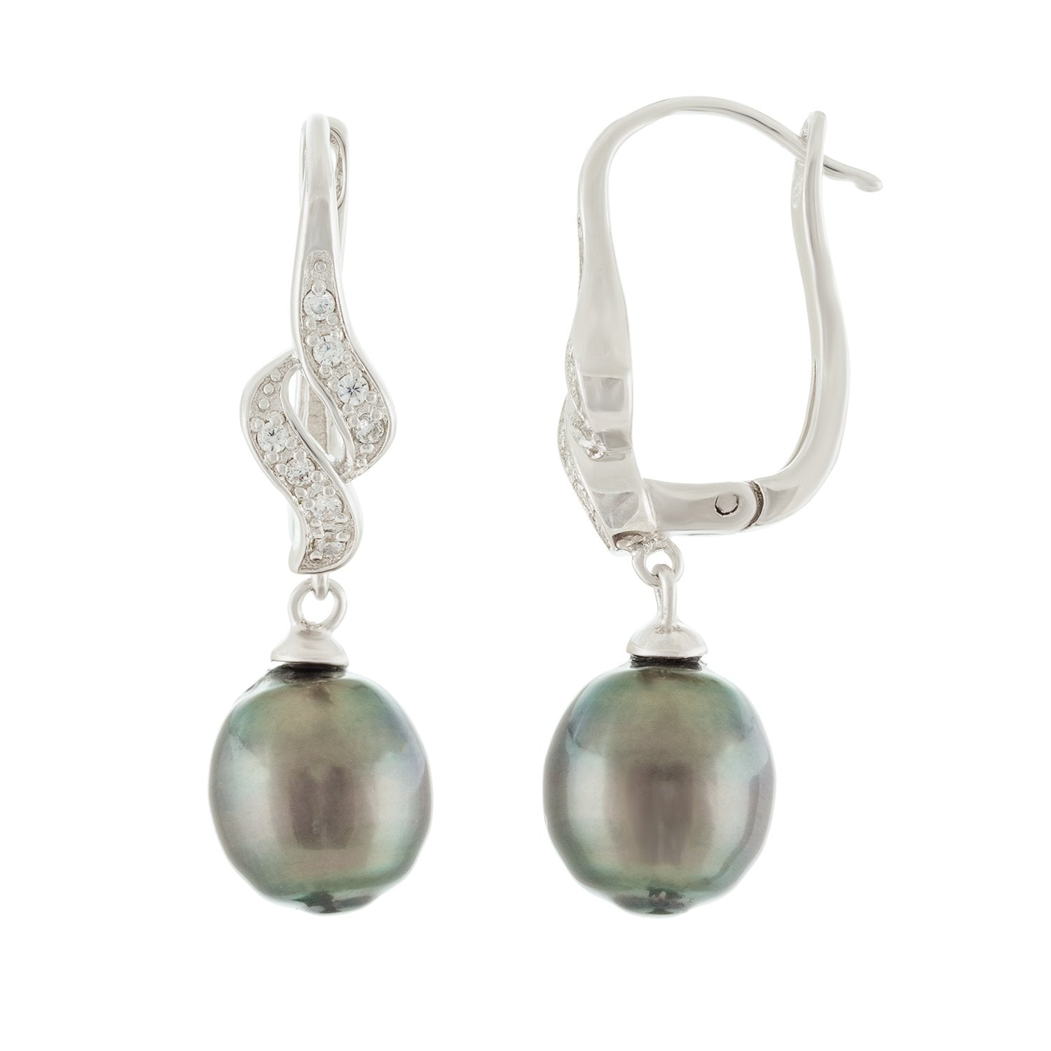 Lustruous Tahitian Pearl Leverback Earrings