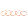 5 Adjustable Pink Freshwater Bracelets
