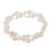 Fancy Braided Freshwater Pearl Bracelet