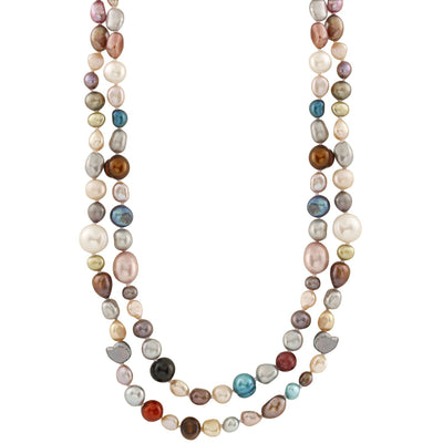 Multicolored Fancy Pearl Endless Necklace