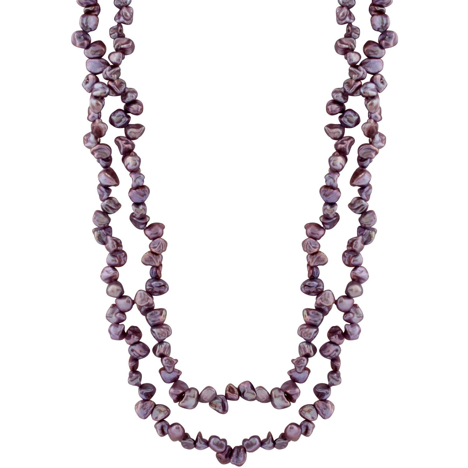 Blushing Purple Keshi Pearl Necklace