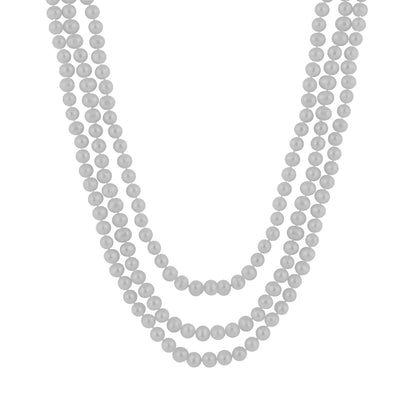 Blushing Gray Pearl Endless Necklace