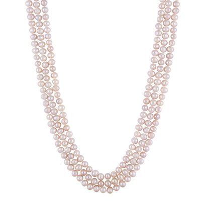 Lovely Pink Endless Pearl Necklace