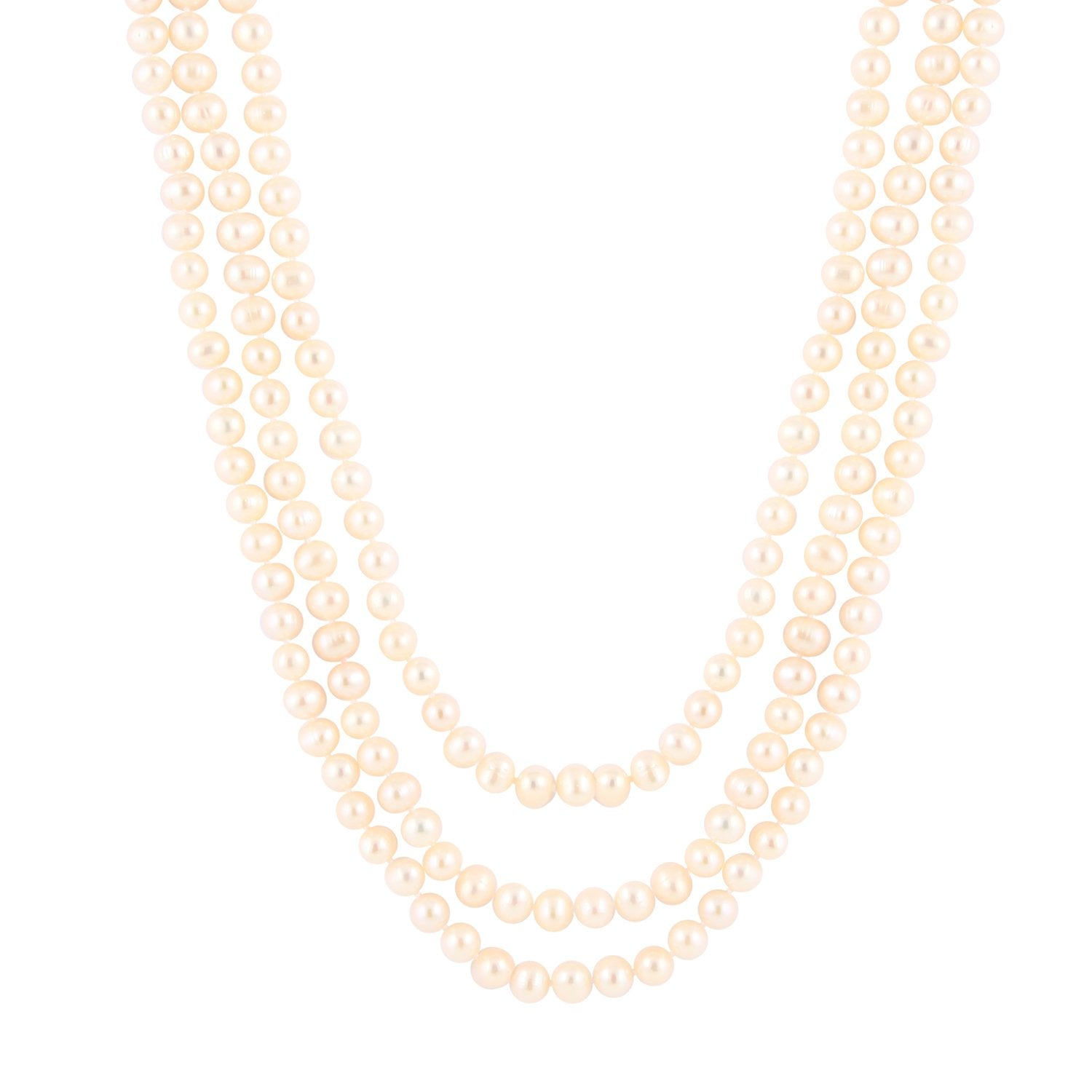 Beautiful White Endless Necklace
