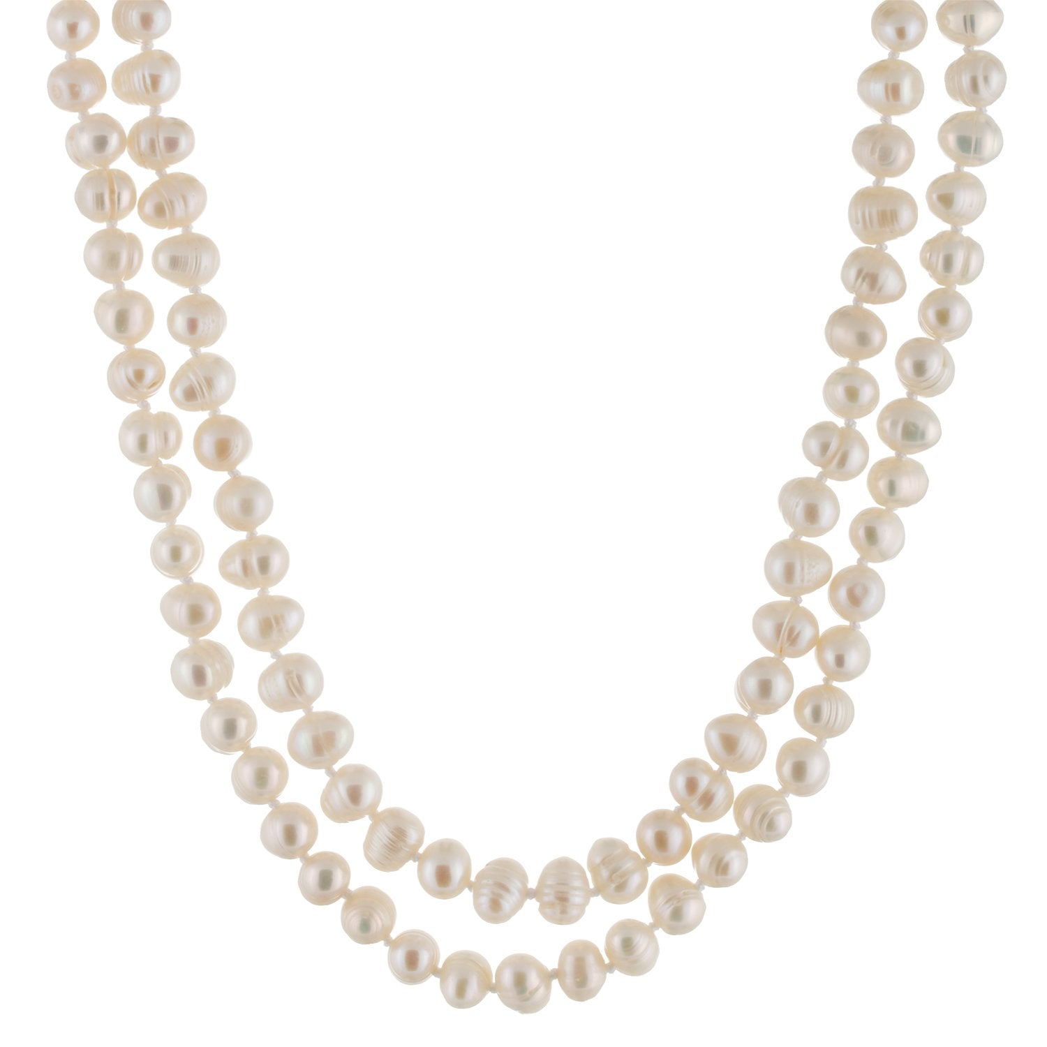 "Beautiful White Endless 64"" Necklace"
